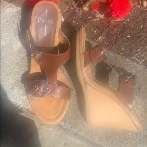 BROWN STRAPPY SANDAL LINEA PAOLO